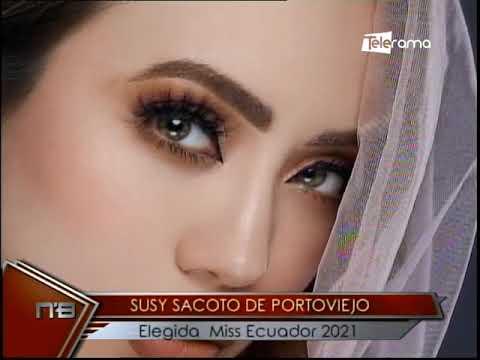 Susy Sacoto de Portoviejo elegida Miss Ecuador 2021