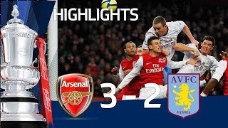 Arsenal 3-2 Aston Villa - Official Highlights and Goals | FA Cup 4th Round Proper 29-01-12