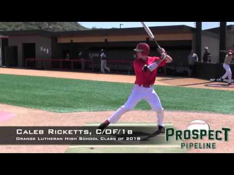 Caleb Ricketts Prospect Video, C_OF_1b, Orange Lutheran HS (CA)