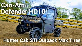 8. 2018 Canam Defender HD10 Camo Cab STI Outback Max  Tires