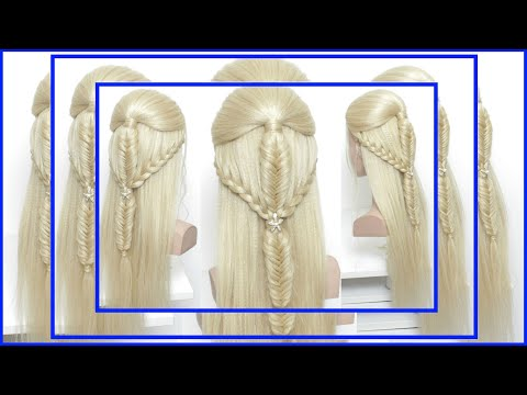 Hairstyles for long hair - Braided Hairstyle For Long Hair. Fishtail and Lace Braids.