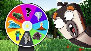 Minecraft DANGEROUS WHEEL OF FORTUNE! (Tsunami, Zombies, Tornadoes)