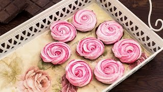 Chocolate Meringue Roses Recipe by Home Cooking Adventure