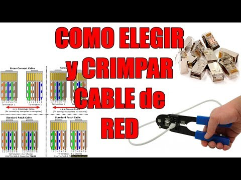 Como crimpar un cable de red, y diferencias entre cables CAT5 CAT6 UTP FTP STP RJ11 RJ45