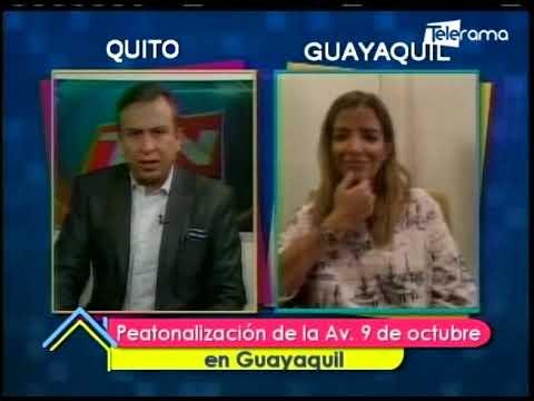 Peatonización de la Av. 9 de Octubre en Guayaquil