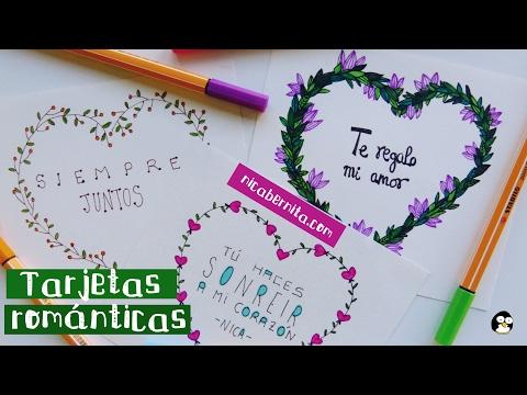 Frases bonitas de amor - TARJETAS HECHAS A MANO CON FRASES DE AMOR 2  IDEAS PARA REGALAR a tu novio