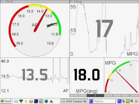 Video of ECUTracker (OBD2,ELM,SSM,LC1)