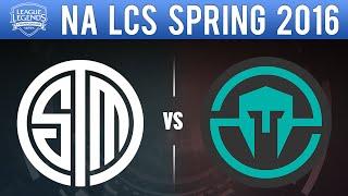 TSM vs IMT - NA LCS 2016 Spring W2D1 - Team SoloMid vs Immortals