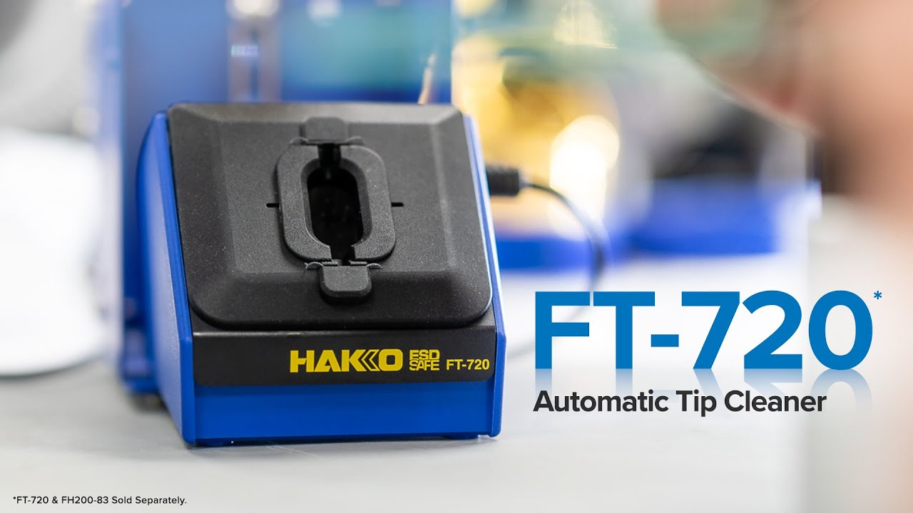 The New HAKKO FT-720 Automatic Tip Cleaner