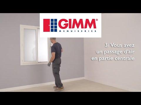 Passage d'air sur un oscillo-battant PVC 2 vantaux - GIMM Menuiseries