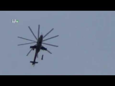 男子正在陽台拍攝這架直升機時「直升機突然丟了一枚炸彈」,接下來根本是地獄的景象啊...