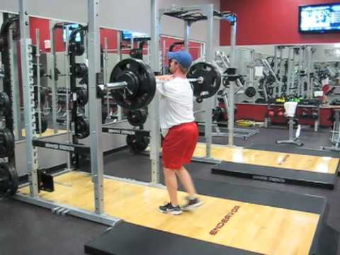 Hockey Training Reverse Lunge Front Squat Grip 255 2×2 Cluster
