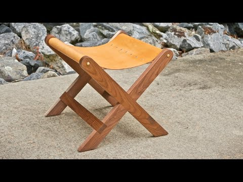 Modern Walnut and Leather Stool Build