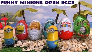 Funny Minions Open Eggs