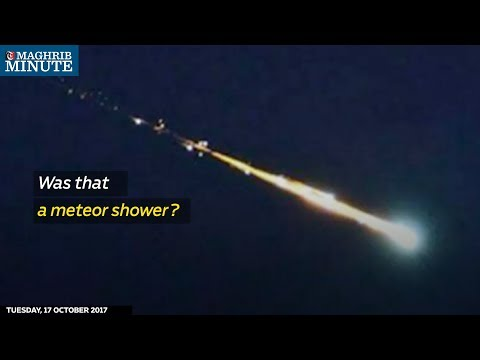 The green light blazing across the Omani night sky on Monday was most likely part of a Russian rocket falling back to earth