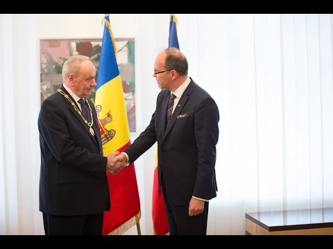 Moldovan president receives distinction awarded by Romanian state