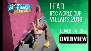 IFSC Climbing World Cup Villars 2019 - Lead - Qualification Overview by International Federation of Sport Climbing