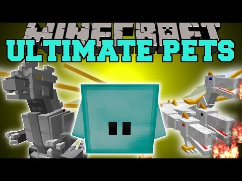 Minecraft: OVERPOWERED PETS (YOUR OWN KILLING MACHINE THAT NEVER DIES!) Mod Showcase