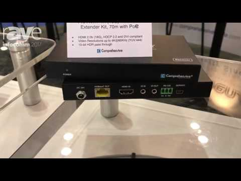 InfoComm 2017: Pro AV/IT 4K (18Gbps) HDBaseT™ Extender Kit, 70m with POC, RS232, HDCP 2.2