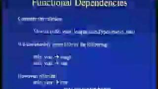 Lecture - 8 Functional Dependencies and Normal Form