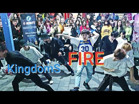 《BTS_#Fire》20190430#KingdomS(킹덤즈) 홍대버스킹 20190430_215708#막곡 #SnowHorse