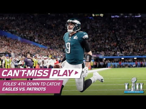 Video: Nick Foles Catches TD Pass on INSANE 4th Down Trick Play! | Can't-Miss Play | Super Bowl LII