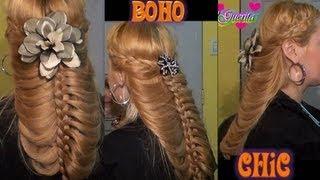 Peinado Para Boda Boho Chic Romantico SemiRecogido para pelo largo y mediano hairstyles - YouTube