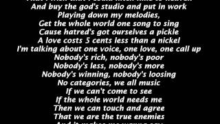 lloyd feat. R.Kelly, Keri Hilson & K'naan - World Cry [lyrics on screen]