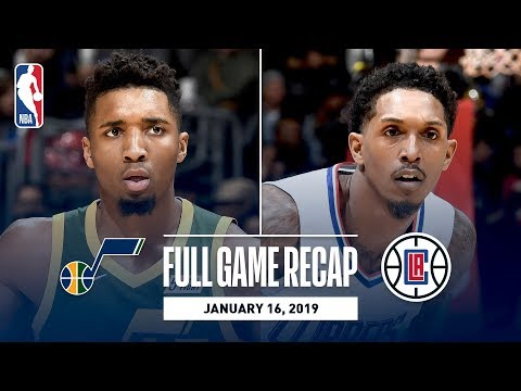 Video: Full Game Recap: Jazz vs Clippers | Donovan Mitchell Leads All Scorers In LA