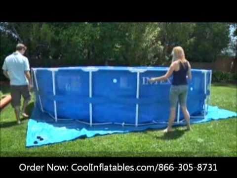 Intex postavitev bazena