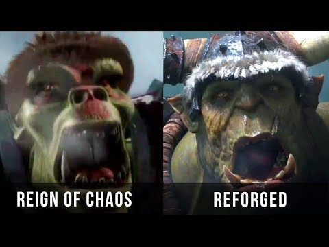 Warcraft 3: Reign of Chaos vs Reforged Cinematic
