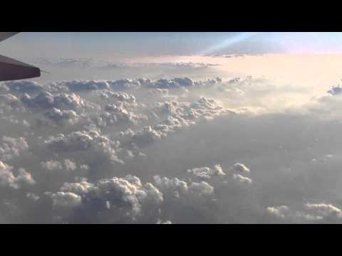 Sky view from the airplane (HD)