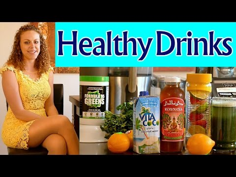 Healthy Drinks for Weight Loss, Energy, Clear Skin & Health! Green Drinks, Probiotics & More!