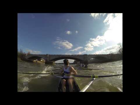 Oxford University Boat Club - [Failed] start to third race. Slow start and rough water lead to clash. Using GoPro black camera. University of London vs Oxford University - 17th Feb 2013 @...