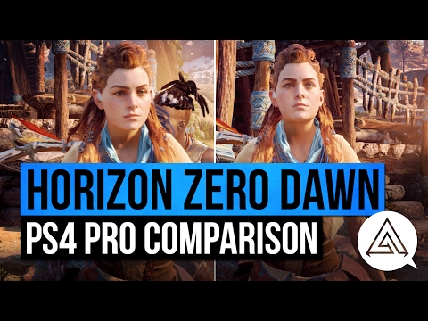 Horizon Zero Dawn   PS4 Pro vs PS4 Gameplay Comparison (видео)