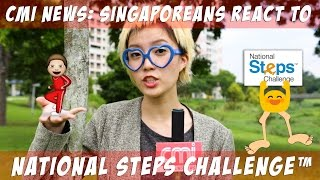 Video CMI News: Singaporeans React To The National Steps Challenge™ MP3, 3GP, MP4, WEBM, AVI, FLV Maret 2019