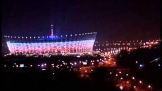 Download Lagu warsaw, national stadium at night.. Mp3
