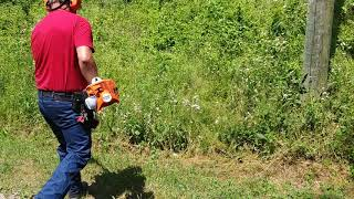 9. Stihl fs56 rc in action