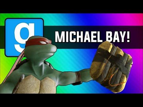 Gmod: Michael Bay Movie - Ninja Turtle Chain Explosion (Garry