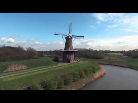 Wind mills of Gorinchem Holland 4K