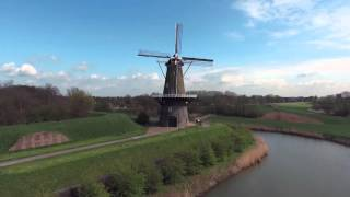 Gorinchem Netherlands  city photos : Wind mills of Gorinchem Holland 4K