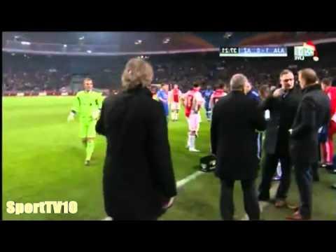 AZ Alkmaar Goalkeeper Snaps Off / Hooligan VS beats Goalkeeper / Goalie with Kung Fu inlay /