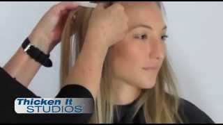 Seamless Hair Extensions Application Tutorial – Thicken It Studios