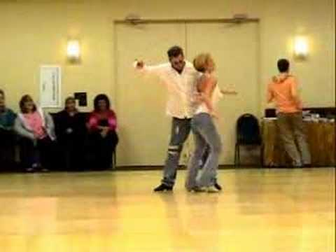 MICHELLE JACKSON & GUYTON MUNDY DANCING AT TAMPA 2005:  Michelle Jackson & Guyton Mundy looking great together as they dance a routine at The Tampa Bay Linedance Classic, November 2005.