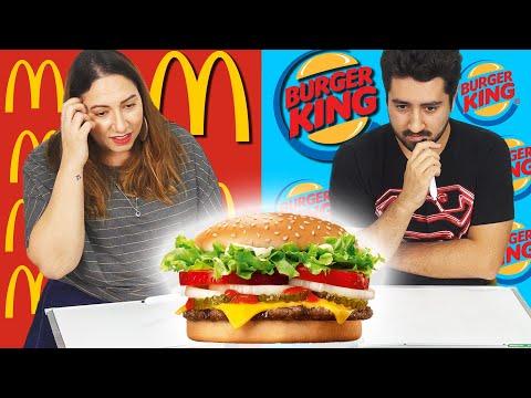 Mc Donalds vs Burger King - Hamburguer Challenge (Qual é o lanche?)