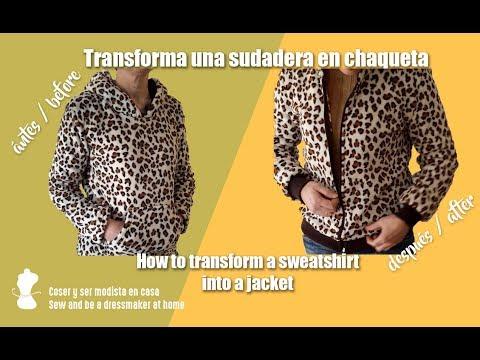 Transforma una sudadera en chaqueta