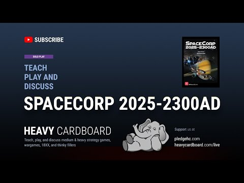 SpaceCorp (Era 3: Starfarers) Solo Teaching, Play-through, & Round table by Heavy Cardboard
