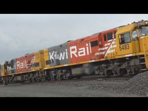Kiwirail trains through Rolleston