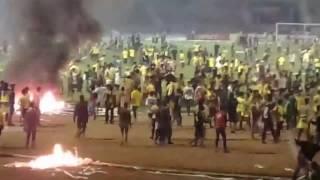 Kerusuhan suporter ultras mania. GU vs PERSELA