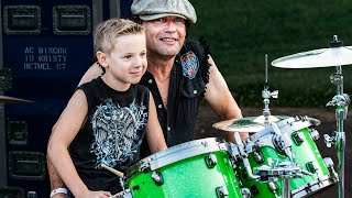 7 yr old drummer, Covers & LIVE Image